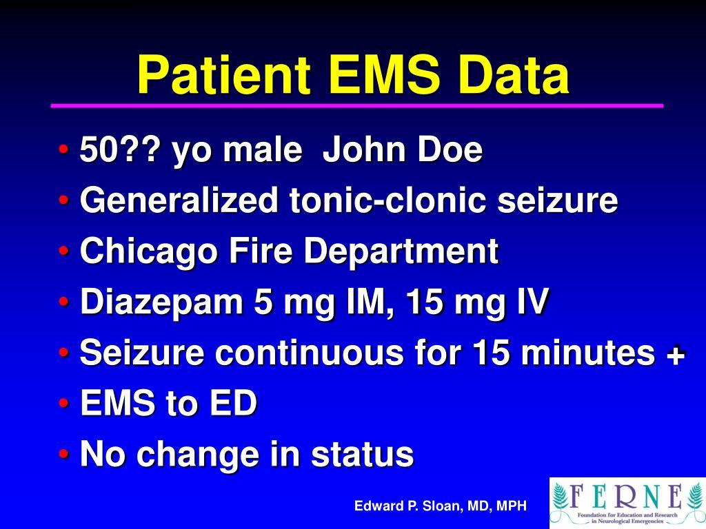 Patient EMS Data