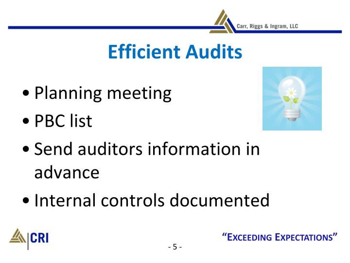 Efficient Audits