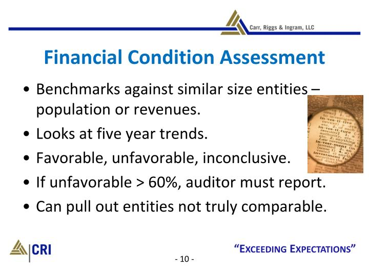 Financial Condition Assessment