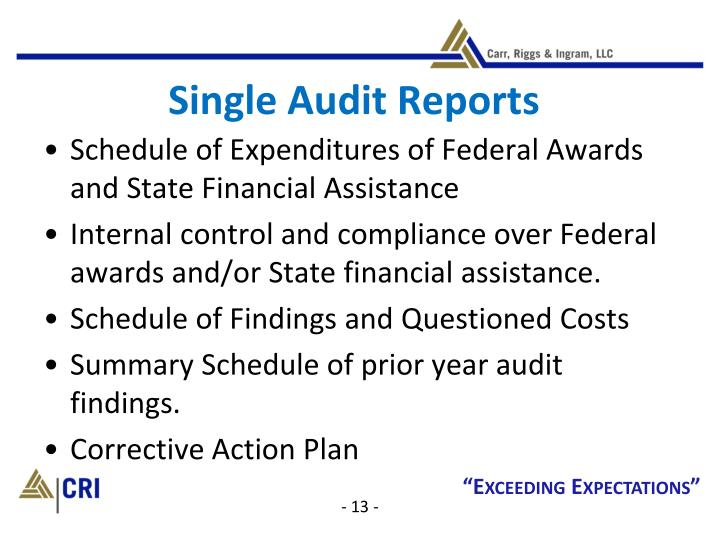 Single Audit Reports