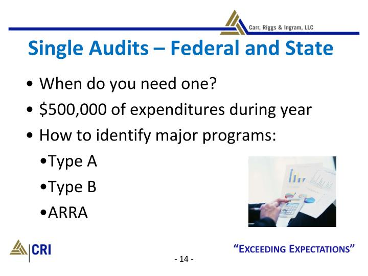 Single Audits – Federal and State