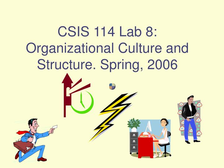 Csis 114 lab 8 organizational culture and structure spring 2006