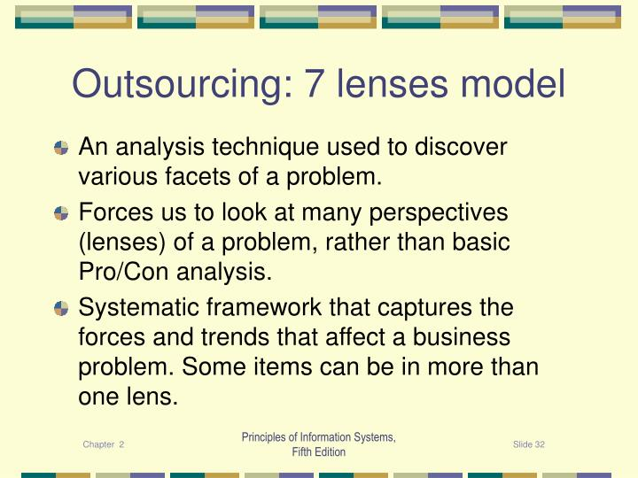 Outsourcing: 7 lenses model