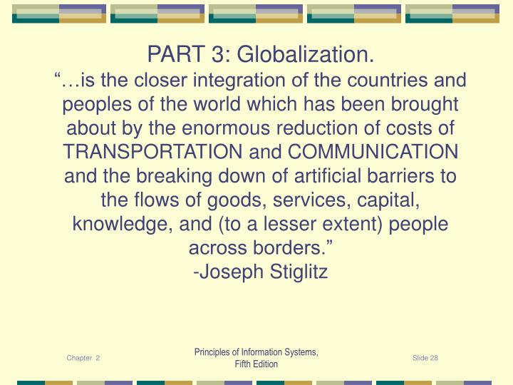 PART 3: Globalization.