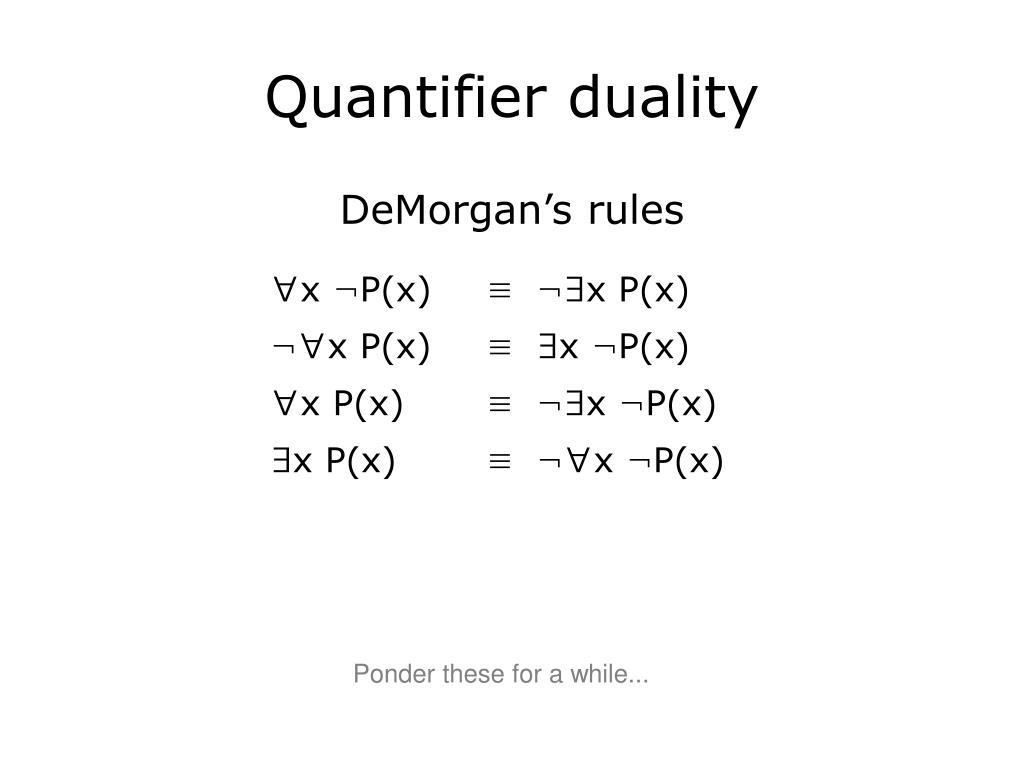Quantifier duality