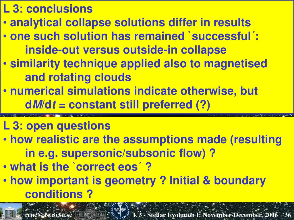 L 3: conclusions