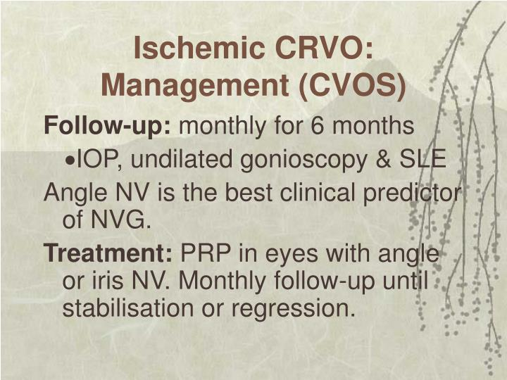 Ischemic CRVO: