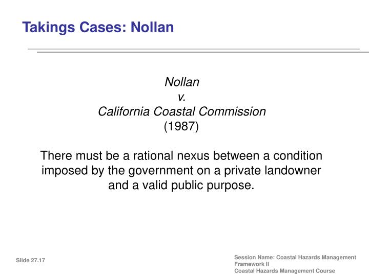 Takings Cases: Nollan