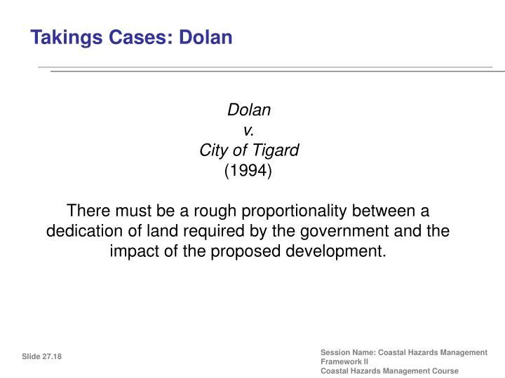 Takings Cases: Dolan