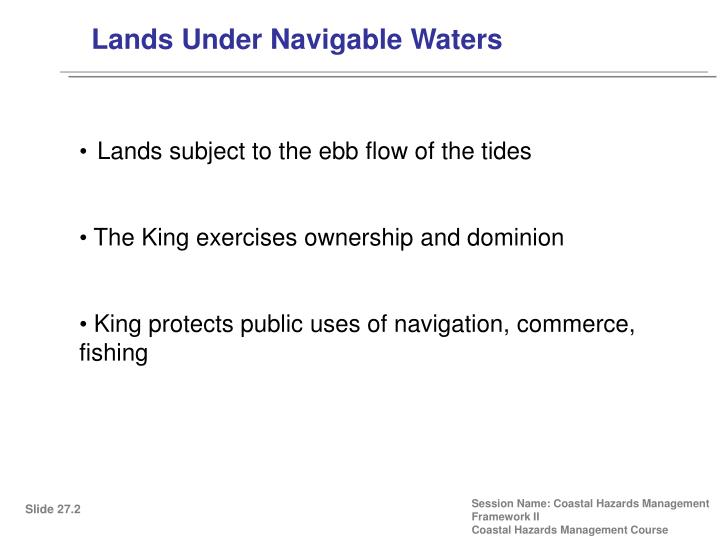 Lands Under Navigable Waters