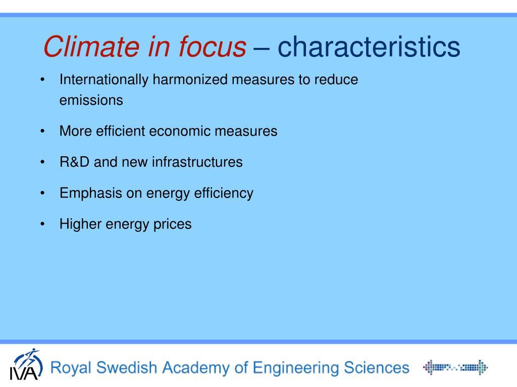 Climate in focus