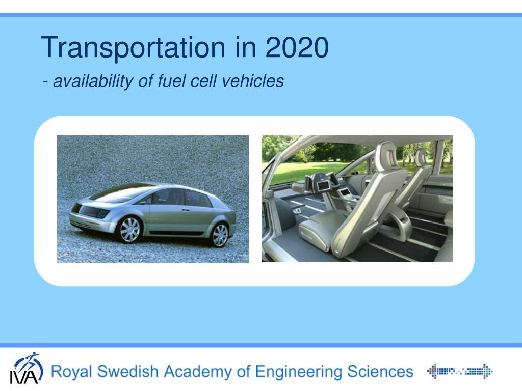 Transportation in 2020