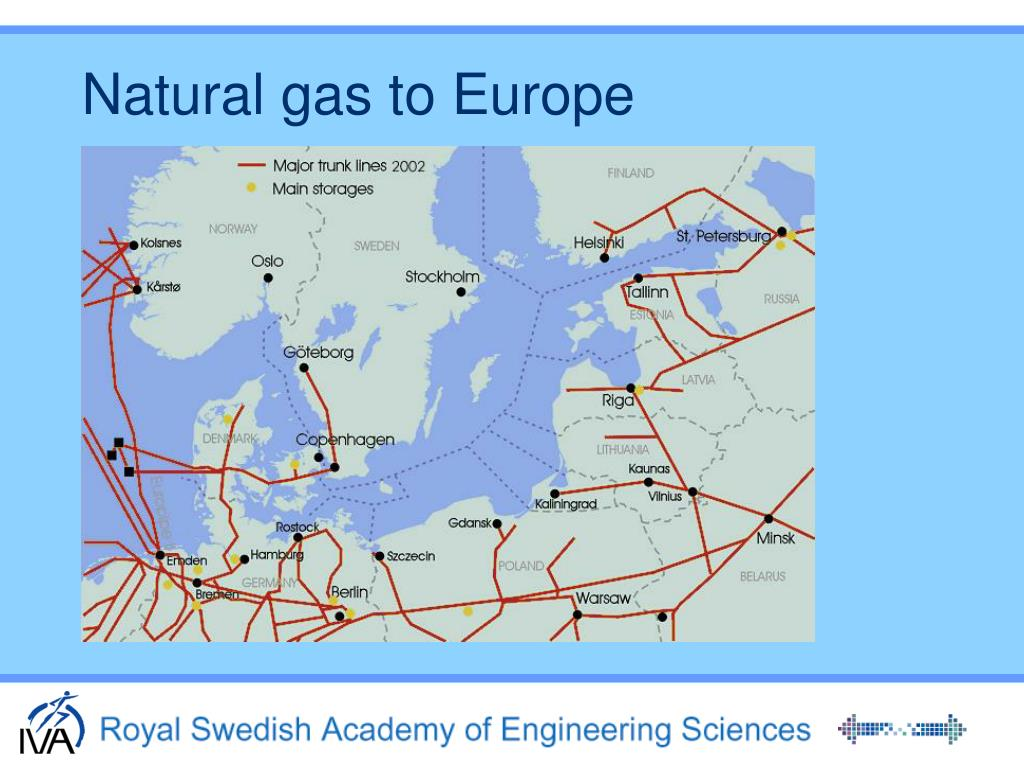 Natural gas to Europe