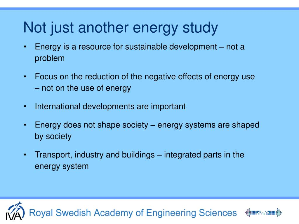 Not just another energy study