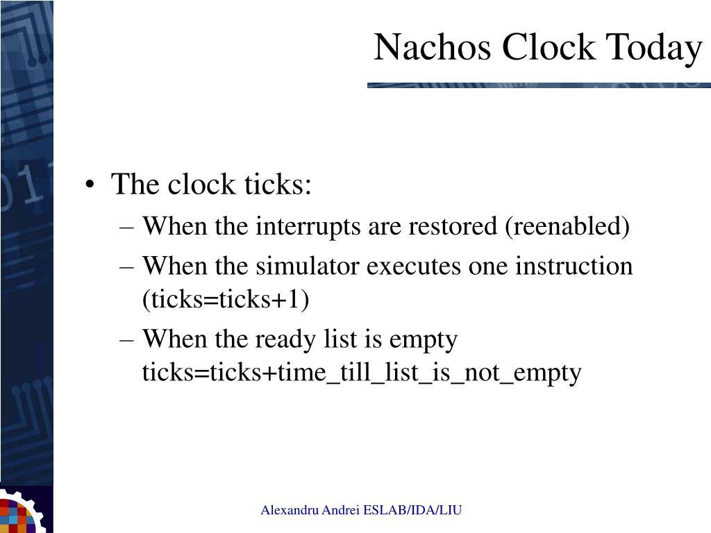 The clock ticks: