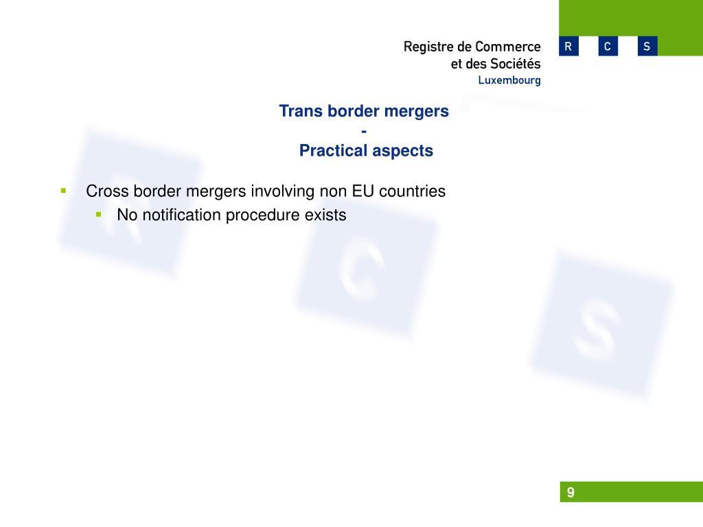 Trans border mergers