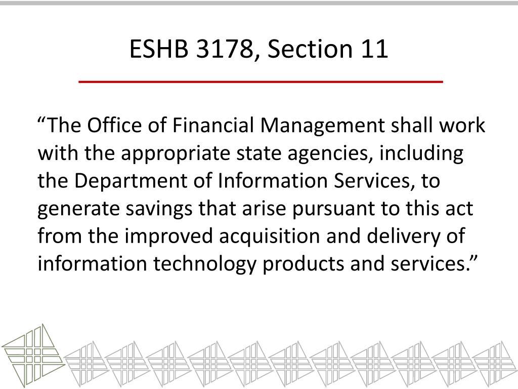 ESHB 3178, Section 11