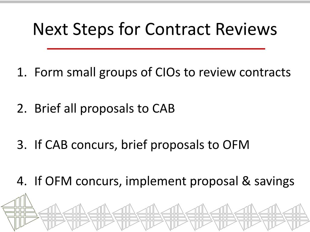 Next Steps for Contract Reviews