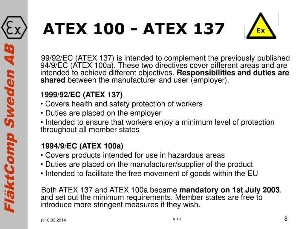 ATEX 100 - ATEX 137