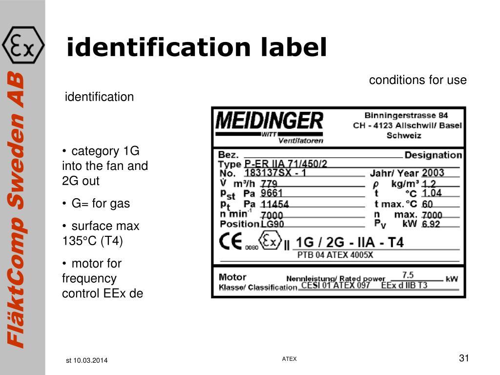 identification label