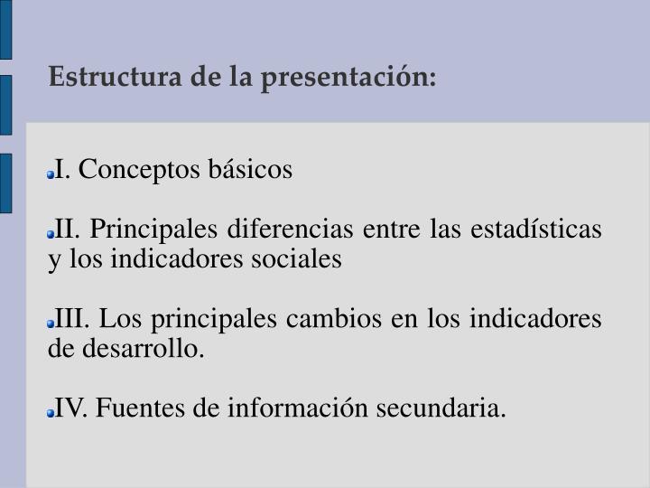 I. Conceptos básicos