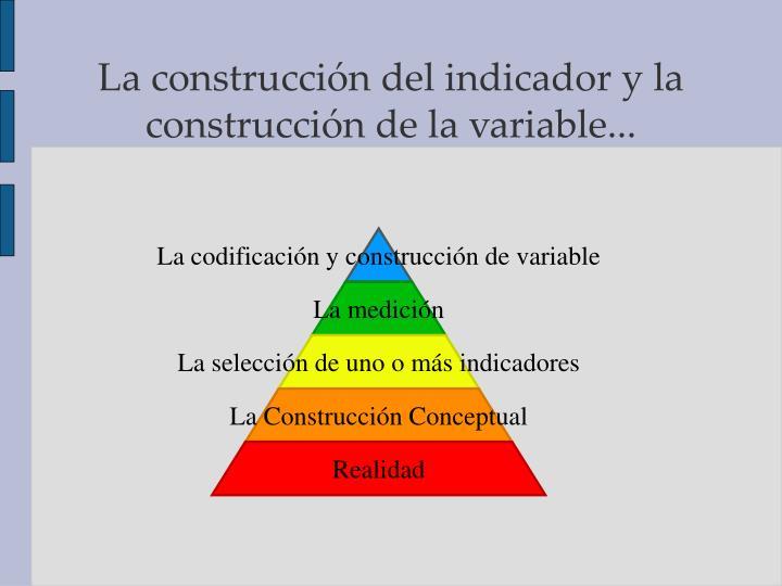 La codificación y construcción de variable