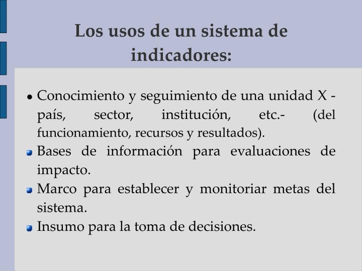 Conocimiento y seguimiento de una unidad X -país, sector, institución, etc.- (