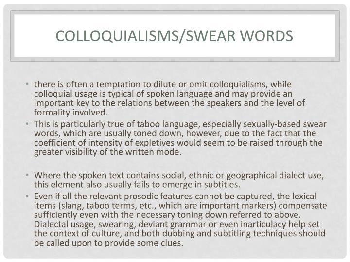 Colloquialisms
