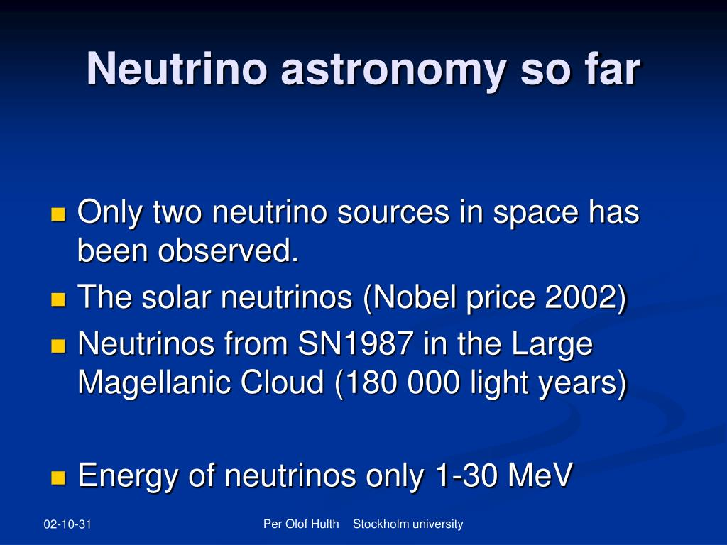 Neutrino astronomy so far