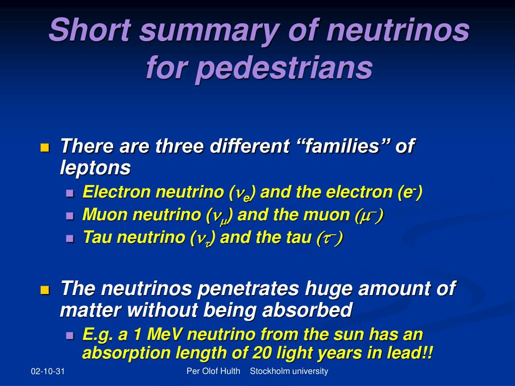 Short summary of neutrinos for pedestrians