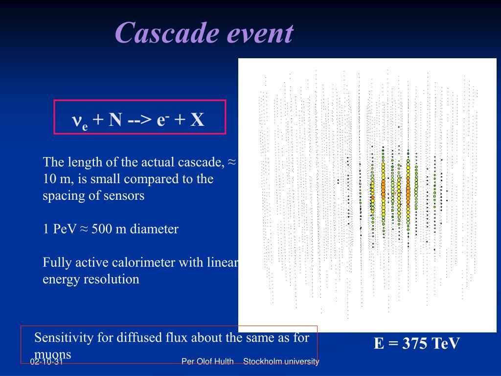 Cascade event