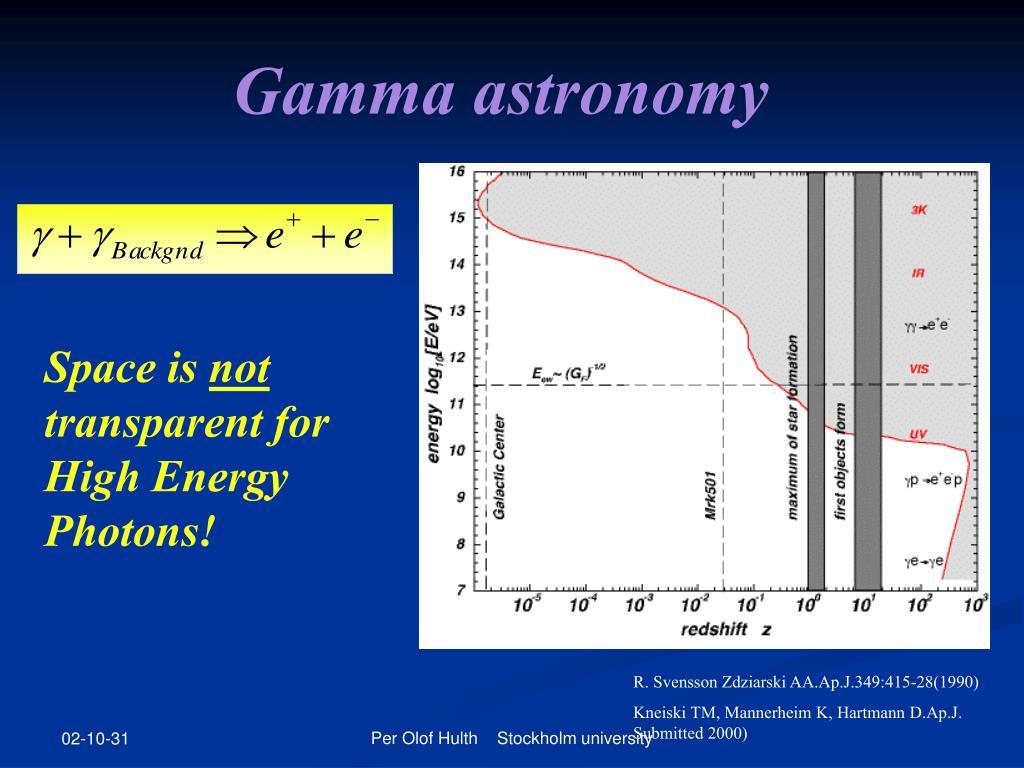 Gamma astronomy