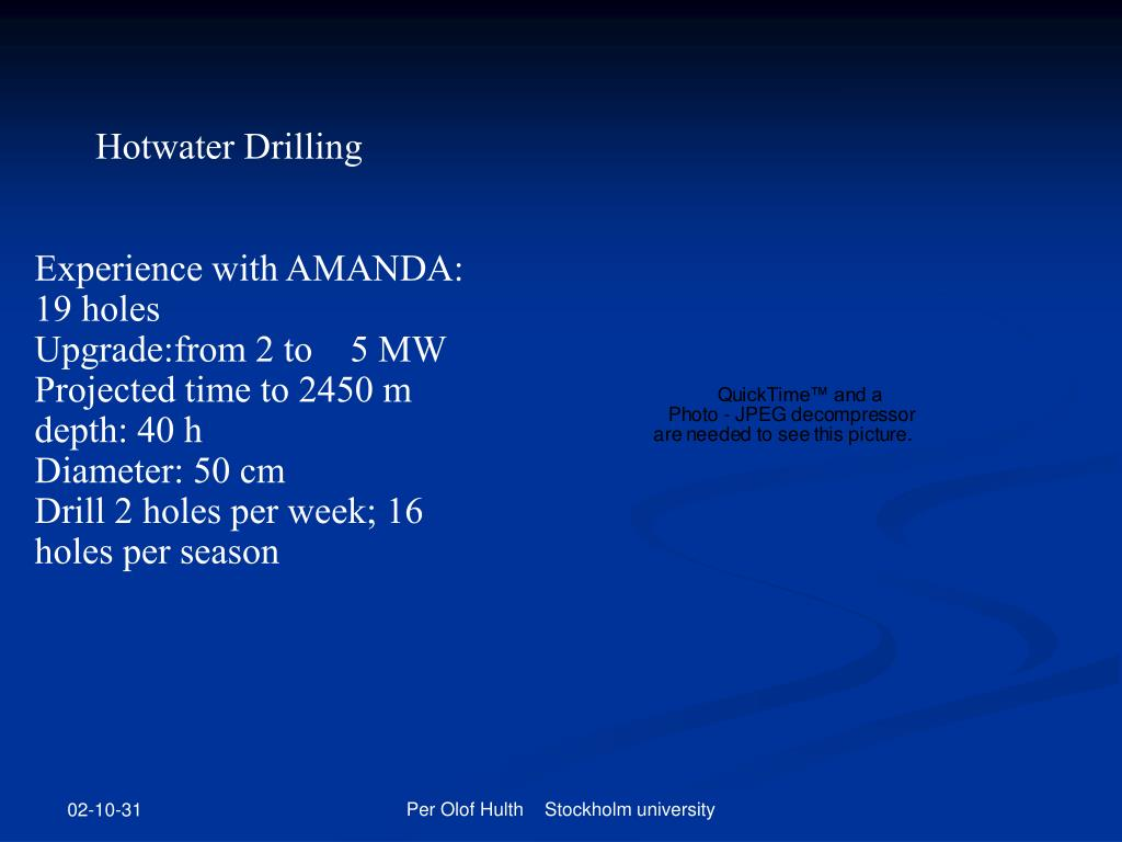 Hotwater Drilling