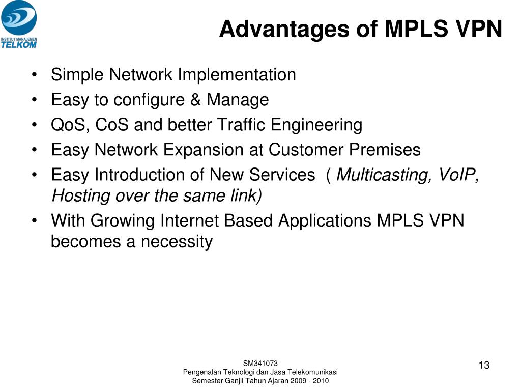 Advantages of MPLS VPN