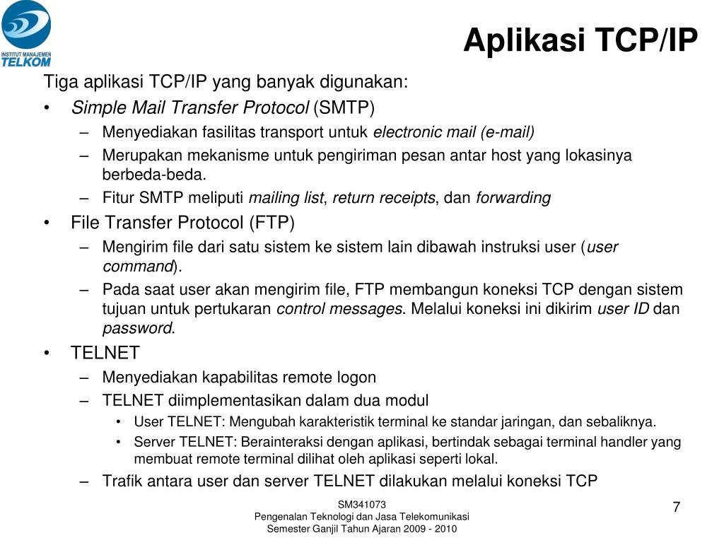 Aplikasi TCP/IP