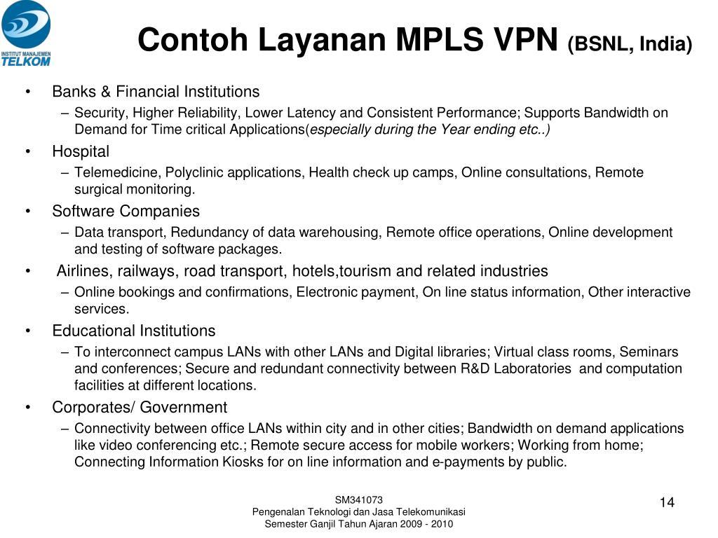Contoh Layanan MPLS VPN