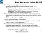 protokol utama dalam tcp ip