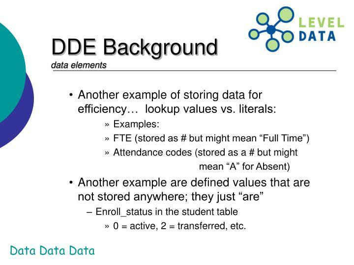 DDE Background