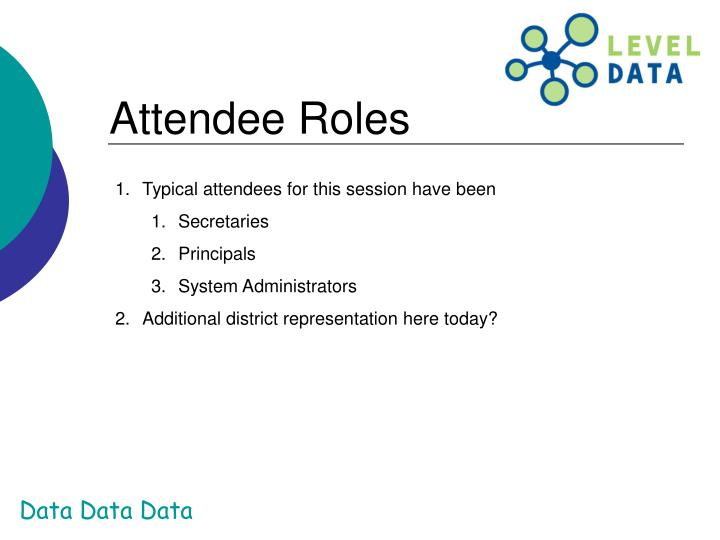 Attendee Roles