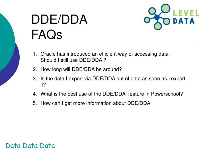 DDE/DDA