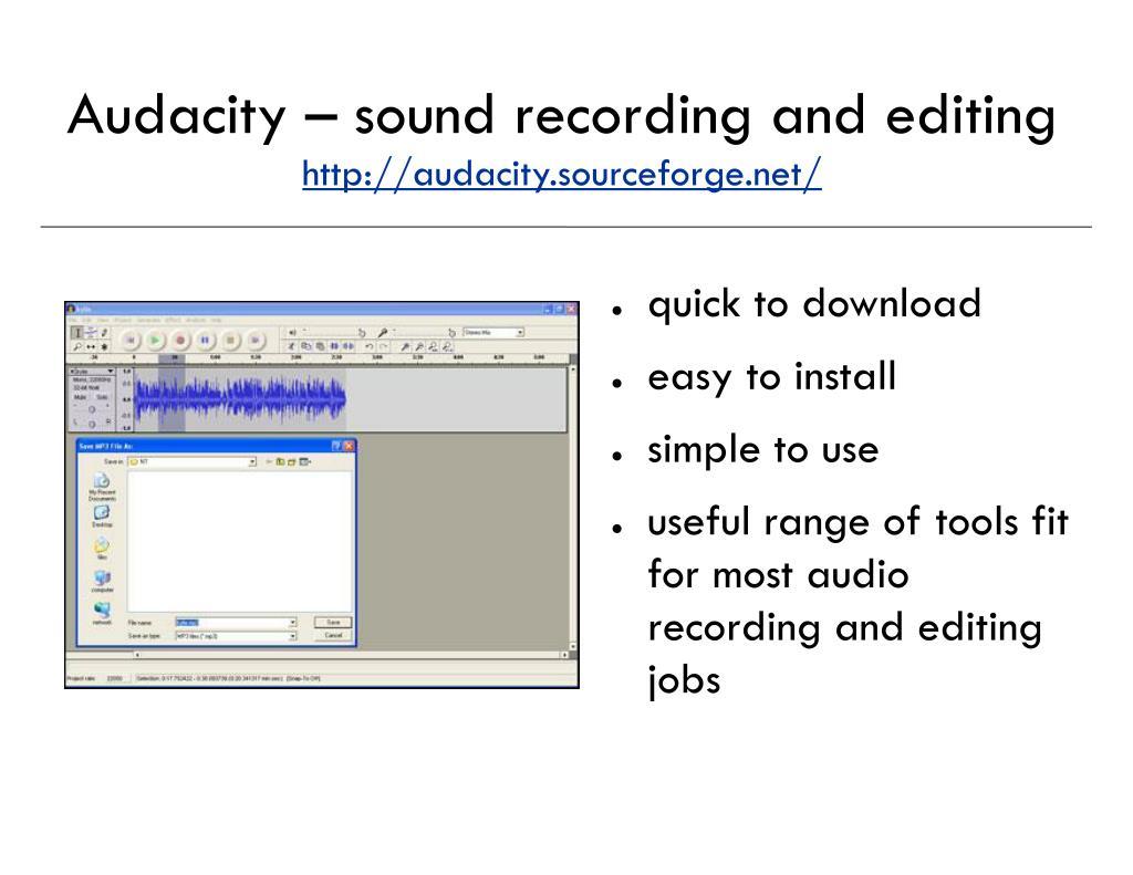 Audacity – sound recording and editing
