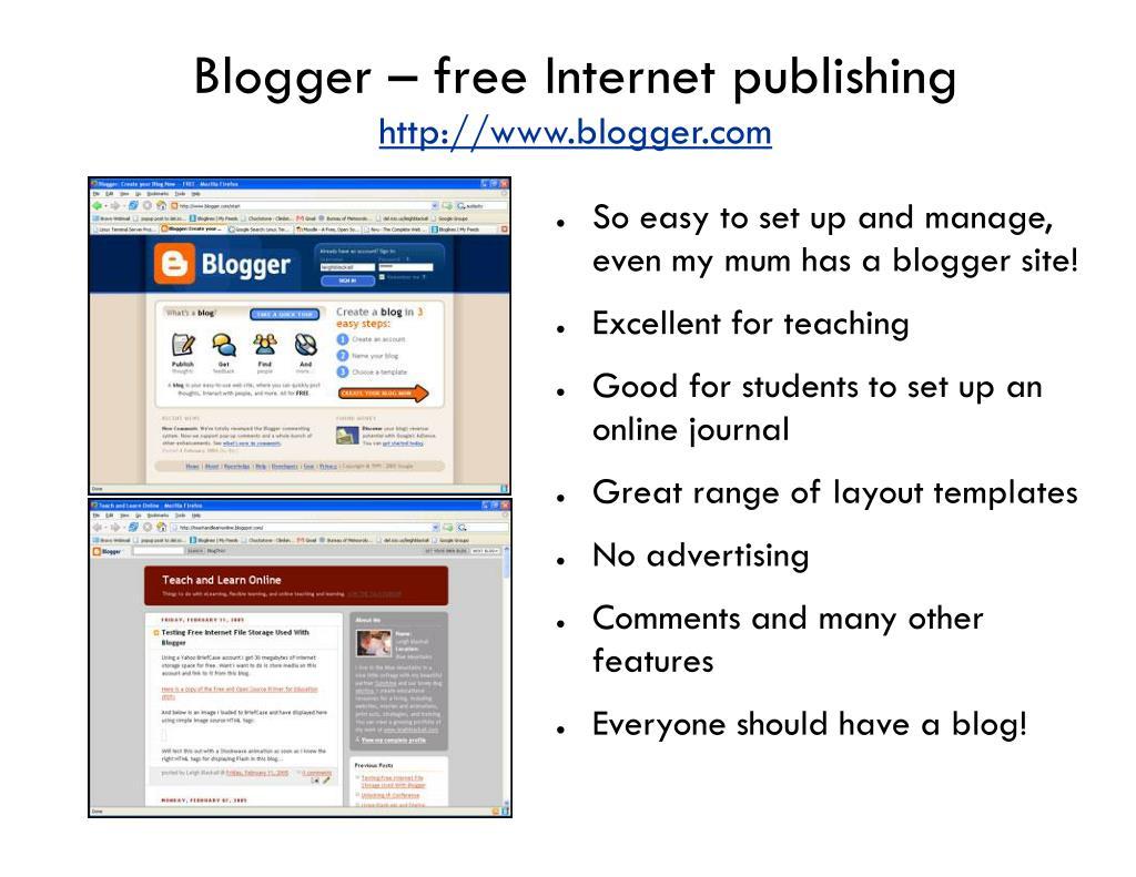 Blogger – free Internet publishing