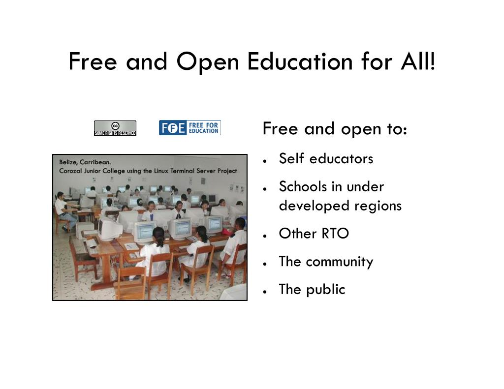 Free and Open Education for All!
