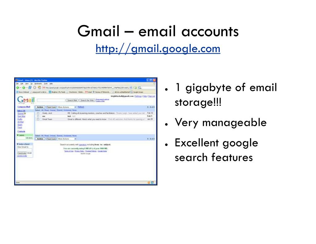 Gmail – email accounts