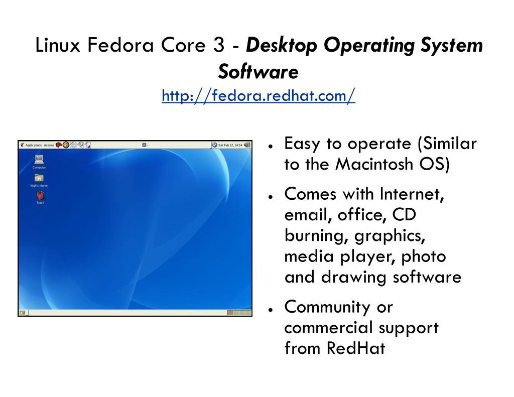 Linux Fedora Core 3 -