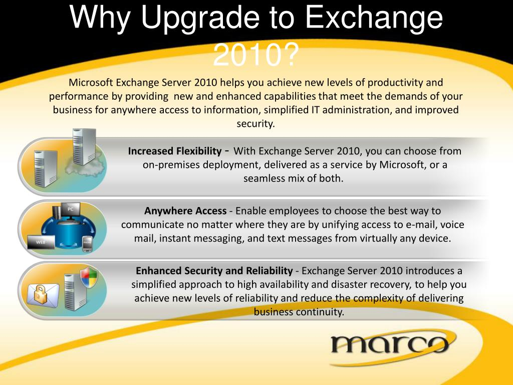Why Upgrade to Exchange 2010?