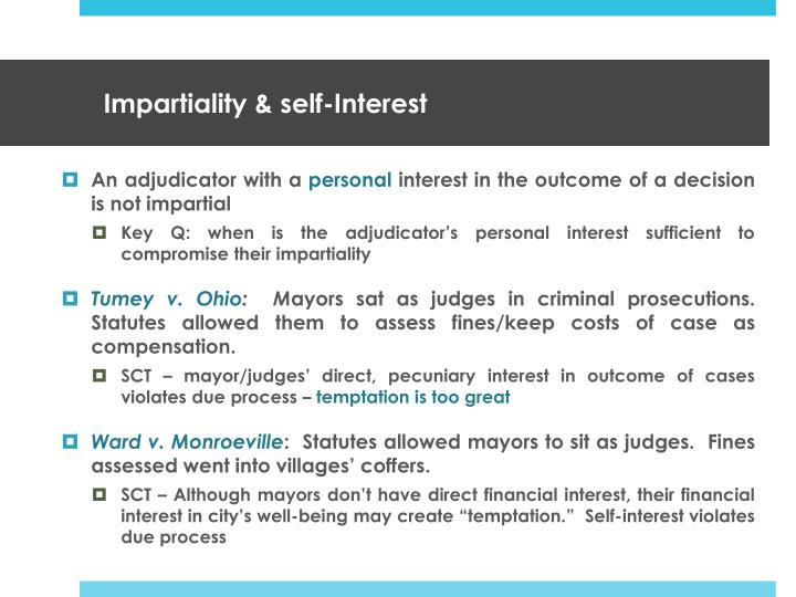 Impartiality & self-Interest