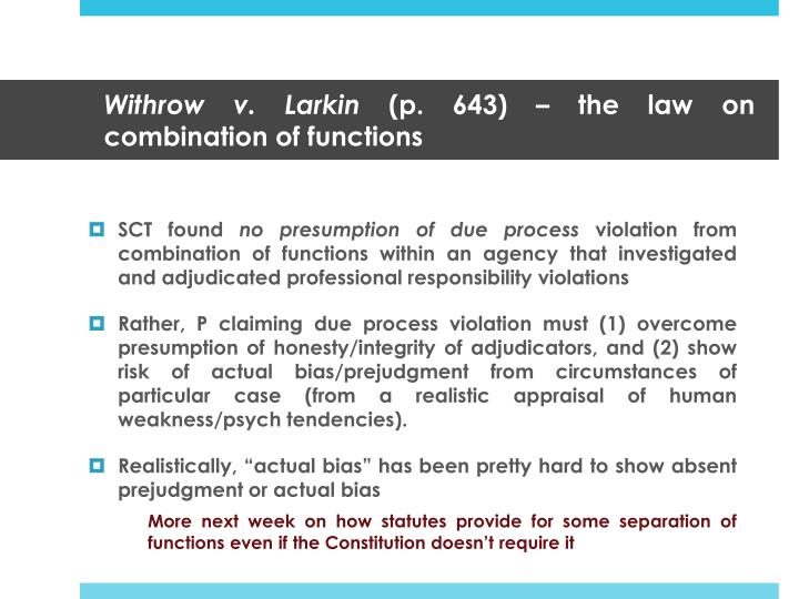 Withrow v. Larkin