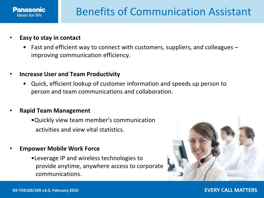 Benefits of Communication Assistant