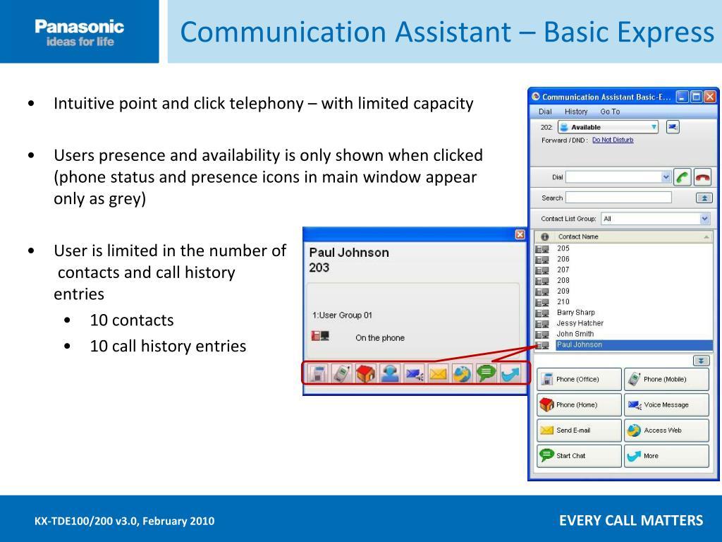 Communication Assistant – Basic Express